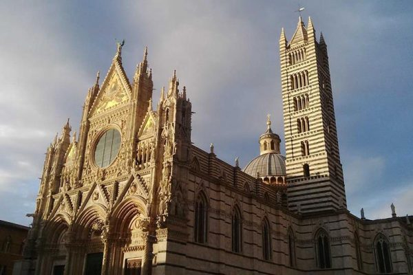 Siena - the splendor of the cathedral in the late afternoon sun