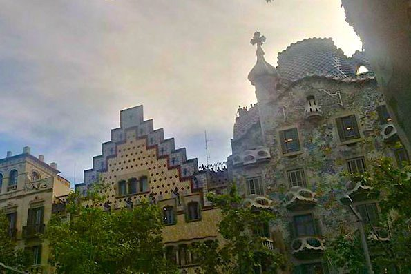 Barcelona - Gaudi house on the Paseo de Gracia