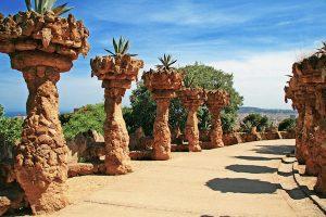 Barcelona - promenade at Gaudì's Park Guell