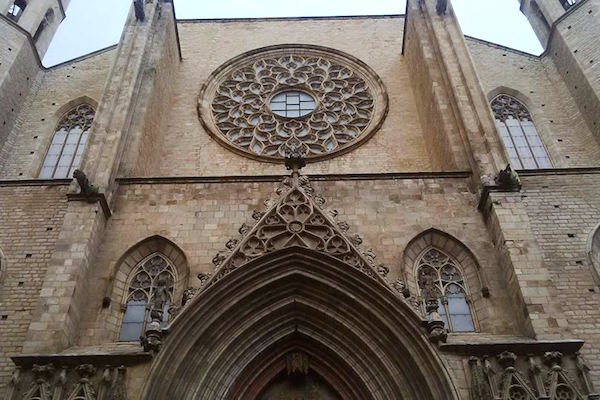 Barcelona - the gothic church of Santa Maria del Mar