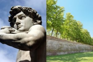 Florence & Lucca - Michelangelo's David and the ancient wall