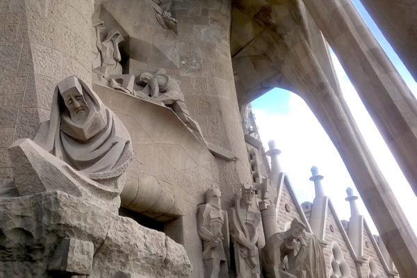 Gaudì's Sagrada Familia sculptures on exterior, west facade