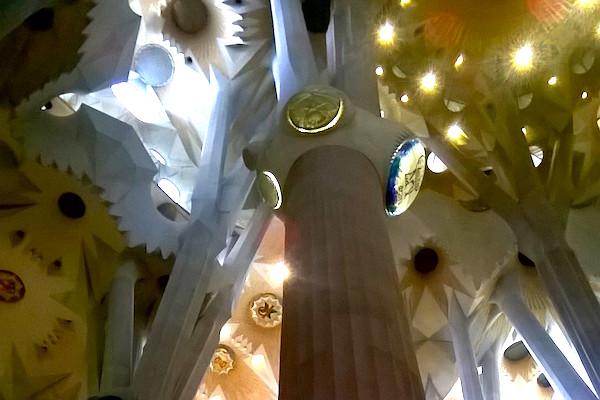 Gaudì's Sagrada Familia detail of ceiling