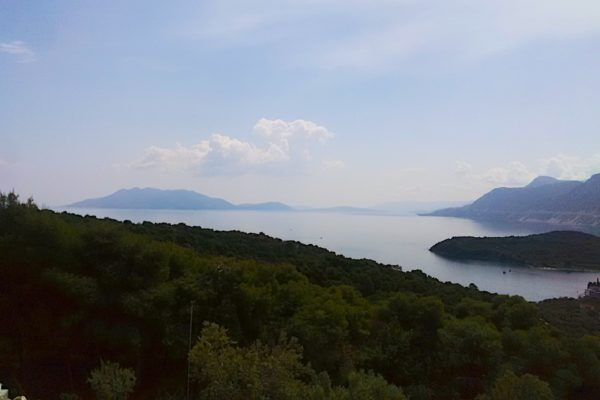 View driving from Corinth to Epidaurus theatre