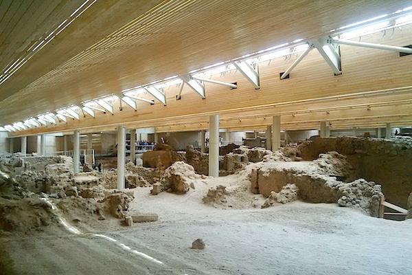 Santorini Akrotiri archeological site