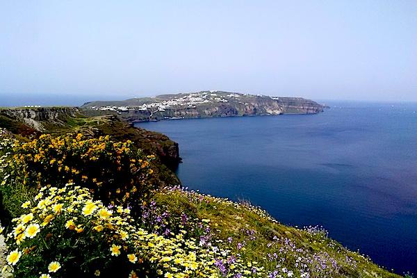 Coast of Santorini, looking towards the Akrotiri